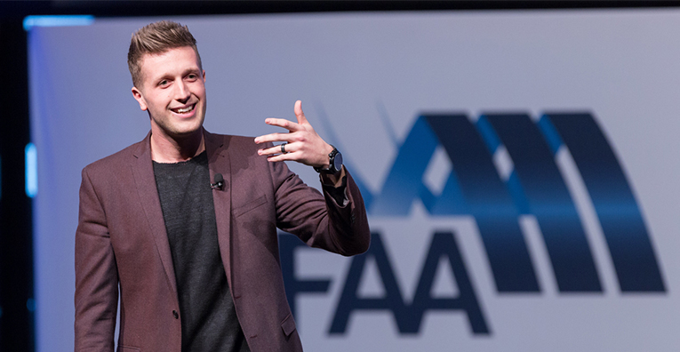 Daniel FlynnDaniel Flynn - MFAA National Convention 2015 - Melbourne Convention and Exhibition Centre - Melbourne - Victoria - Australia - 2015